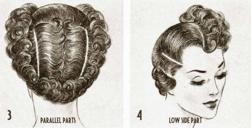 1940s Hairstyle---Exciting-Post-War-Hair-ideas---parallel parts