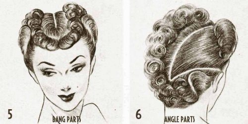 1940s Hairstyle---Exciting-Post-War-Hair-ideas---bang part