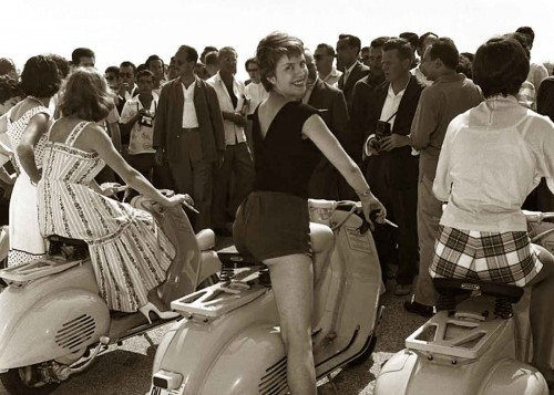 Cumar-Bruna-riding-a-Vespa-1963