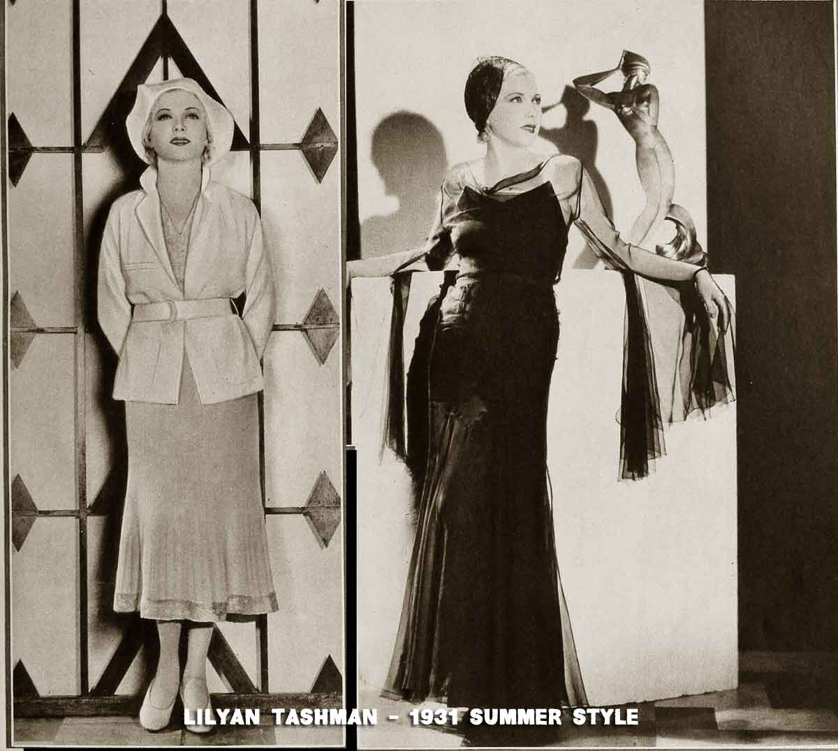 Two summer frocks worn by -Lilyan-Tashman-1931