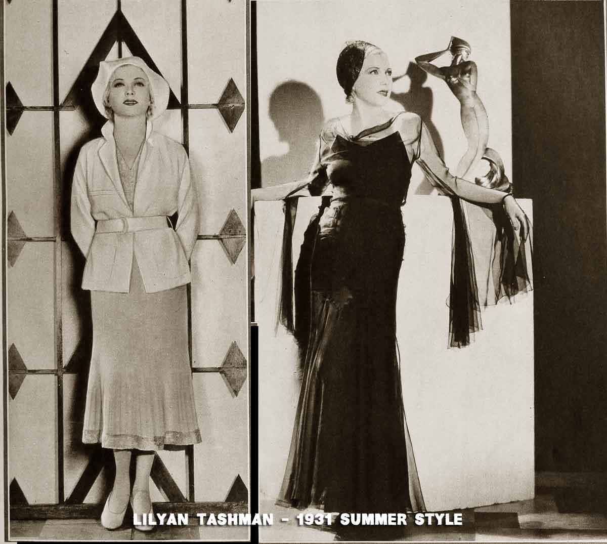 Two summer frocks worn by -Lilyan-Tashman-1931