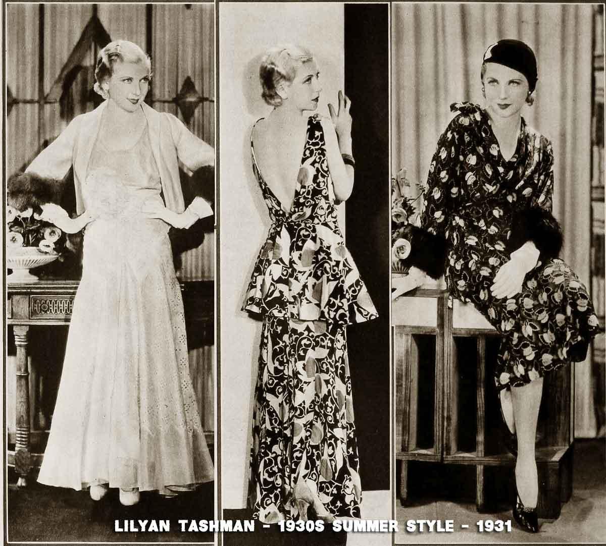 Hollywood-Summer-Frocks---Lilyan-Tashman-1931