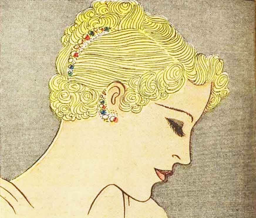 1930s-Hairstyle---May-Day-Hair-Decoration---1936-1