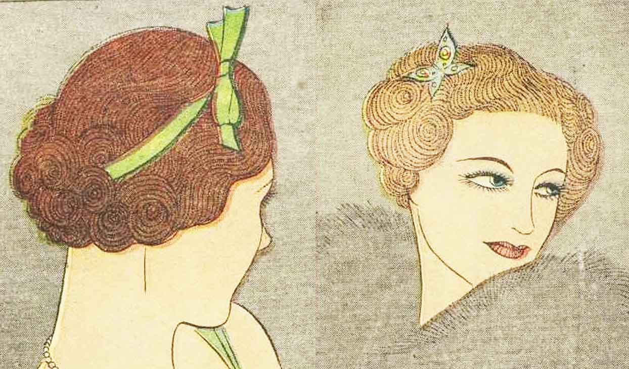 1930s Hairstyle – May Day Hair Decoration – 1936 | Glamourdaze
