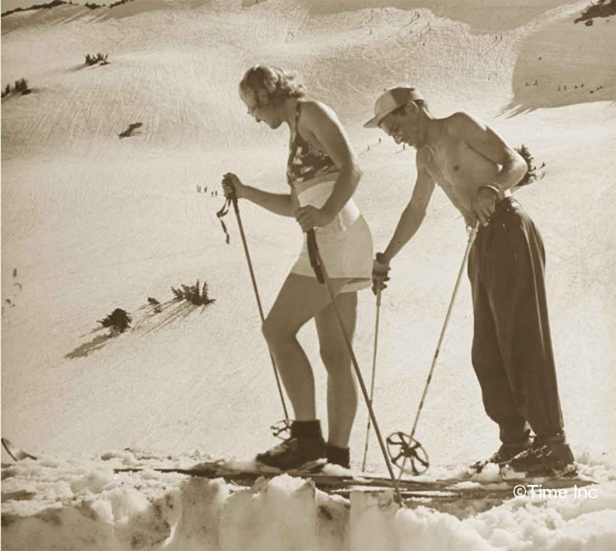 1940s-Fashion---Summer-Skiing-in-1942- Lassen Volcanic National Park
