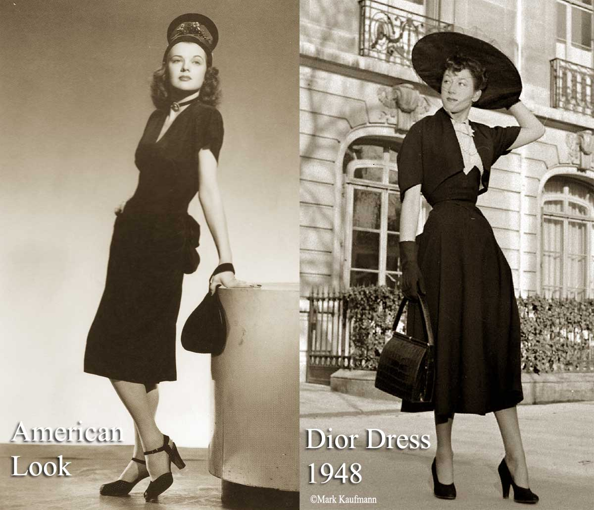 1940's Fashion - Womens Dress Style after the War