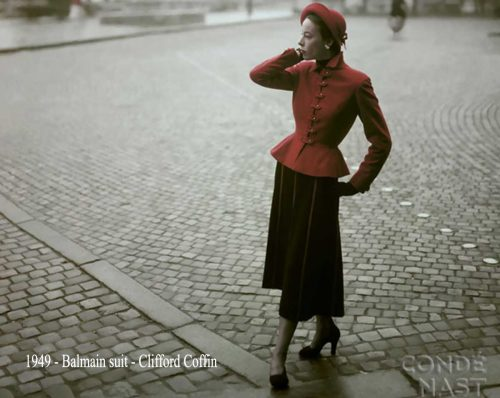 1949---Balmain-suit---Clifford-Coffin