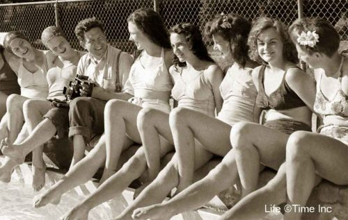 American-Swimmer-Lakeshore Swim Team with Photographer Jack Wilkes 1944