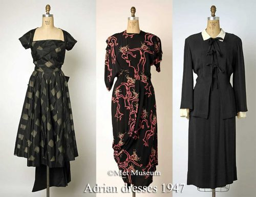Three-Dresses---Adrian-1947