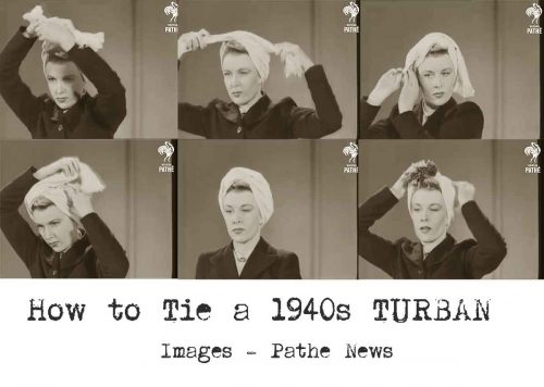1940s-Fashion---How-to-make-a-Glamorous-Turban---Method-1