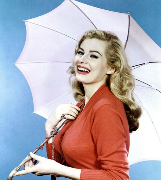 Anita Ekberg with umbrella
