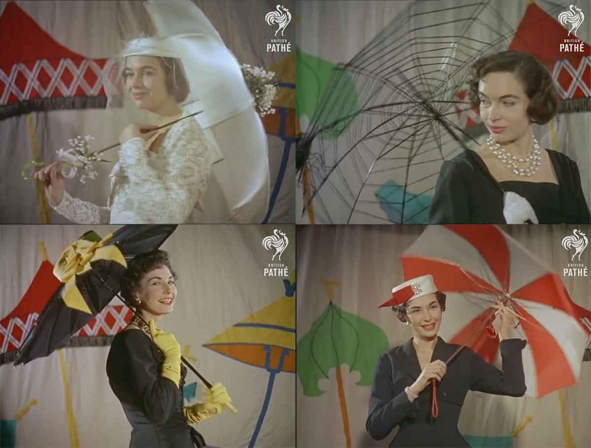 Pathe---Umbrella-fashion-in-the-1950s