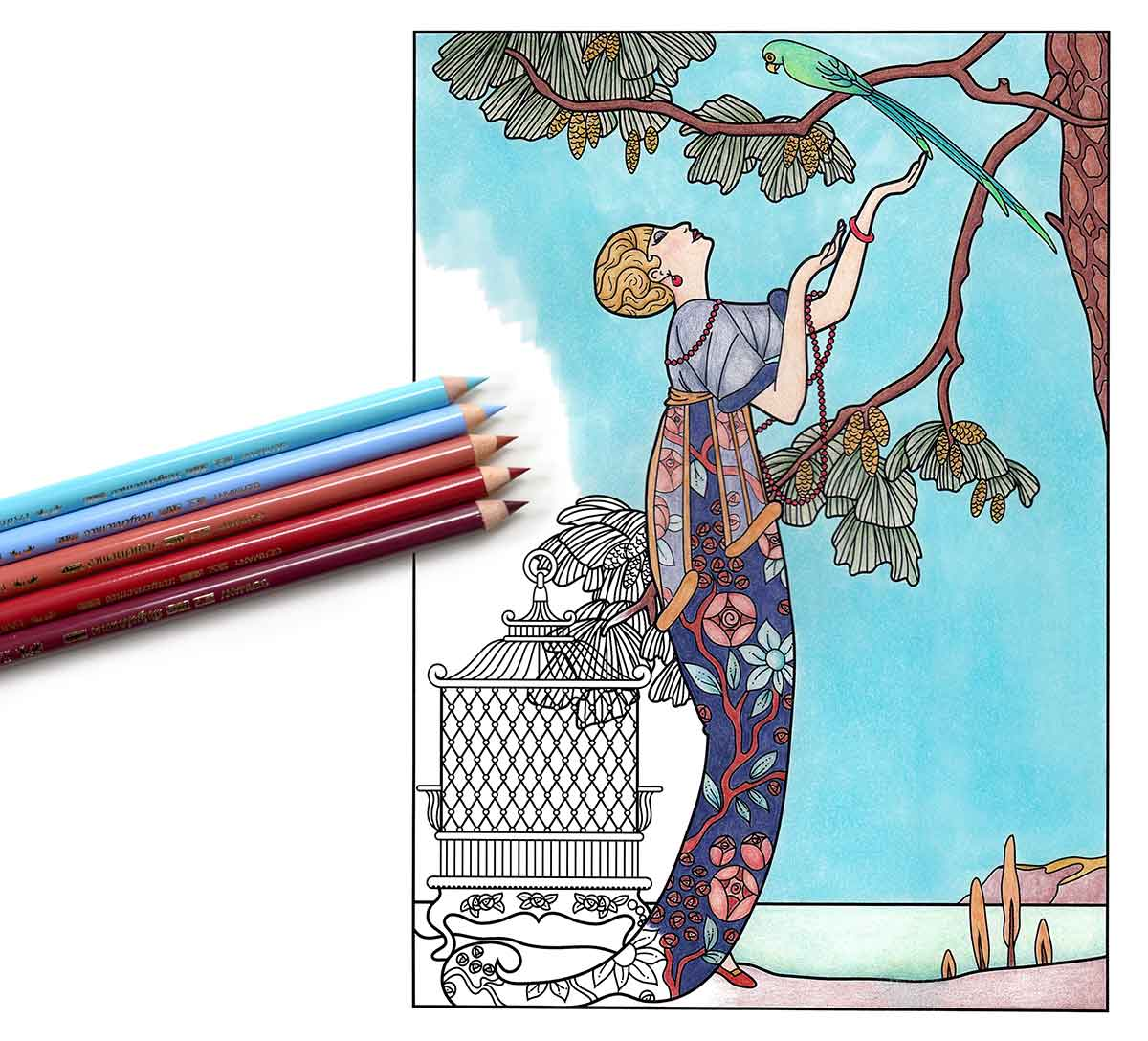 The-Masters-of-Fashion-Illustration---adult-coloring-book