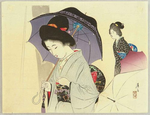 Tomioka-Eisen---woman-with-umbrella