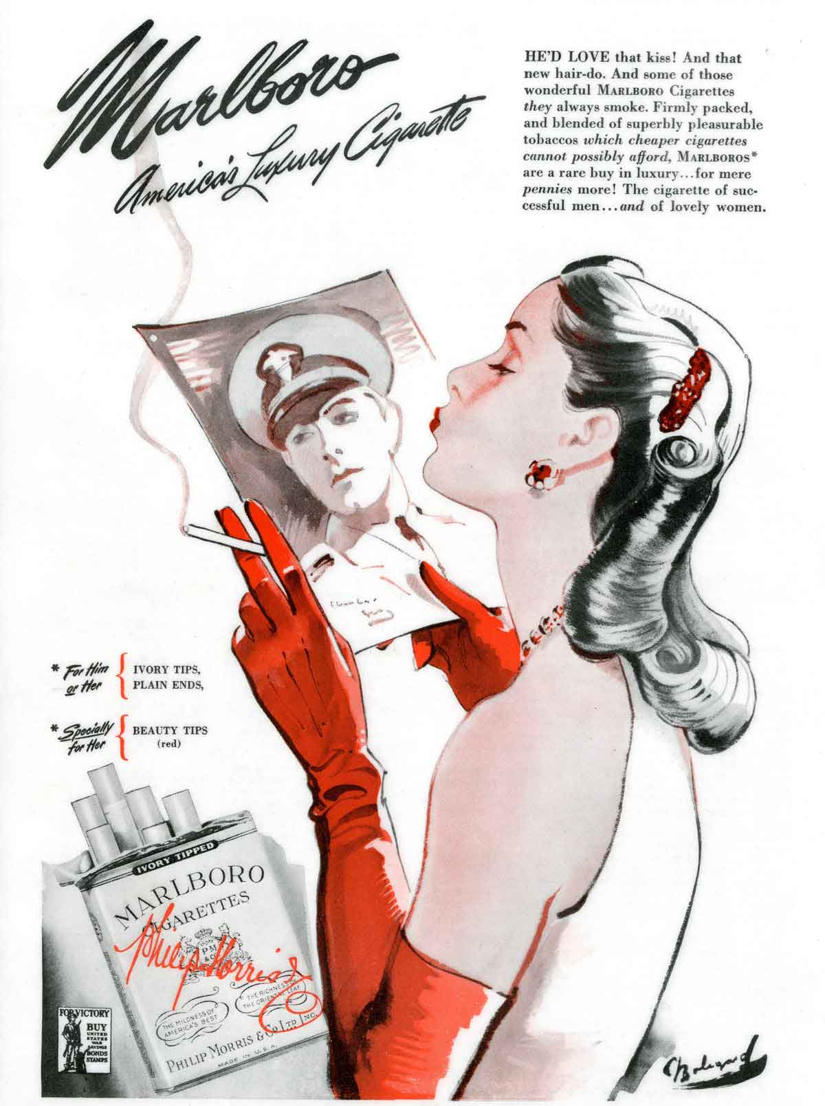 1940s-Fashion---Cigarettes-and-the-Slim-Silhouette---Marlboro-cig2