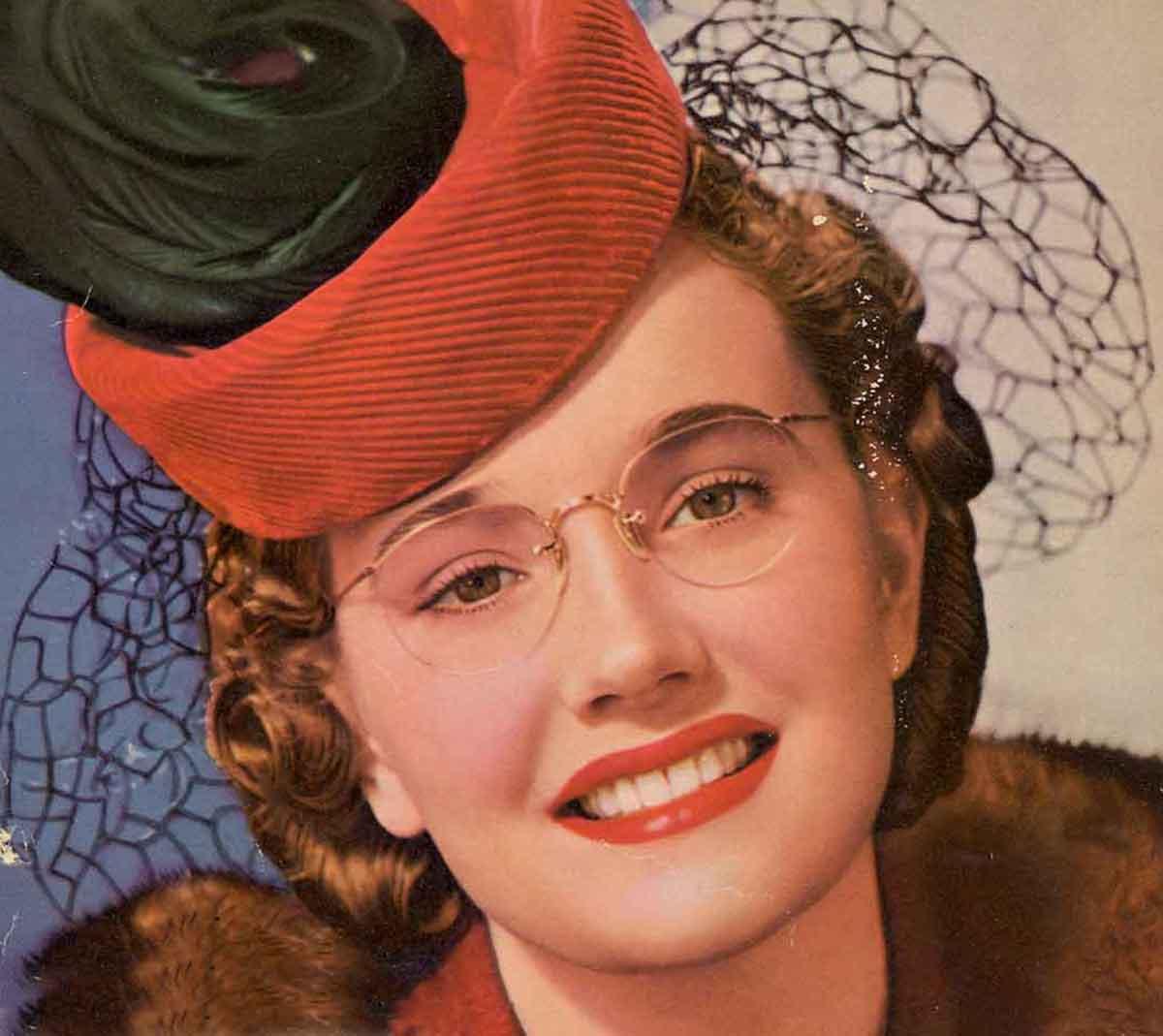 Girls Who Wear Glasses - 1940s Beauty Tips | Glamour Daze