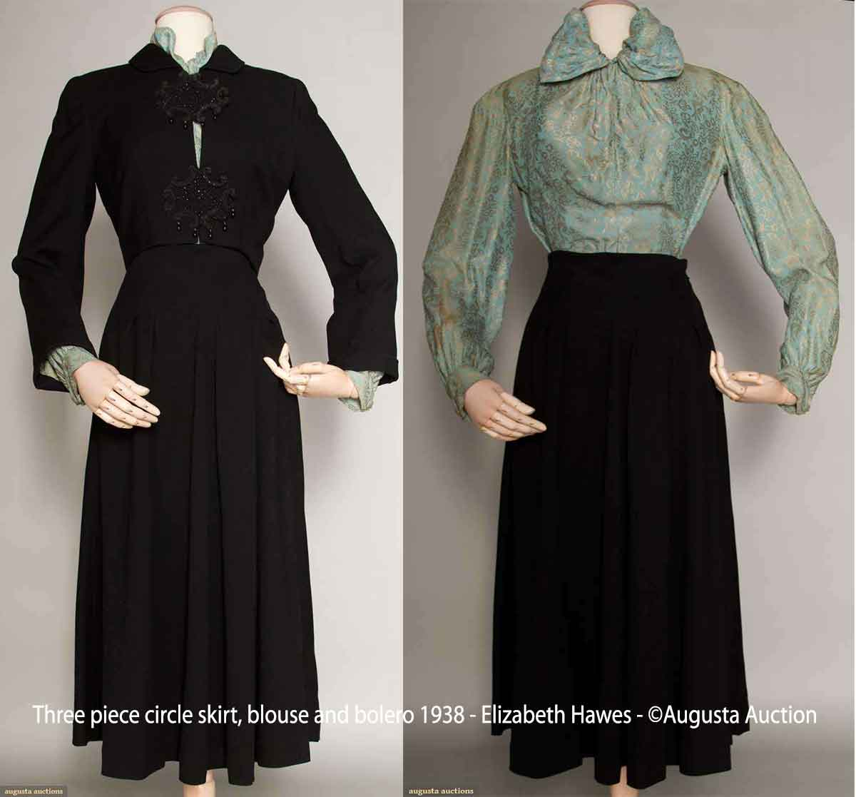 Three-piece--circle-skirt-blouse-and-bolero-1938---Elizabeth-Hawes---augusta-auction