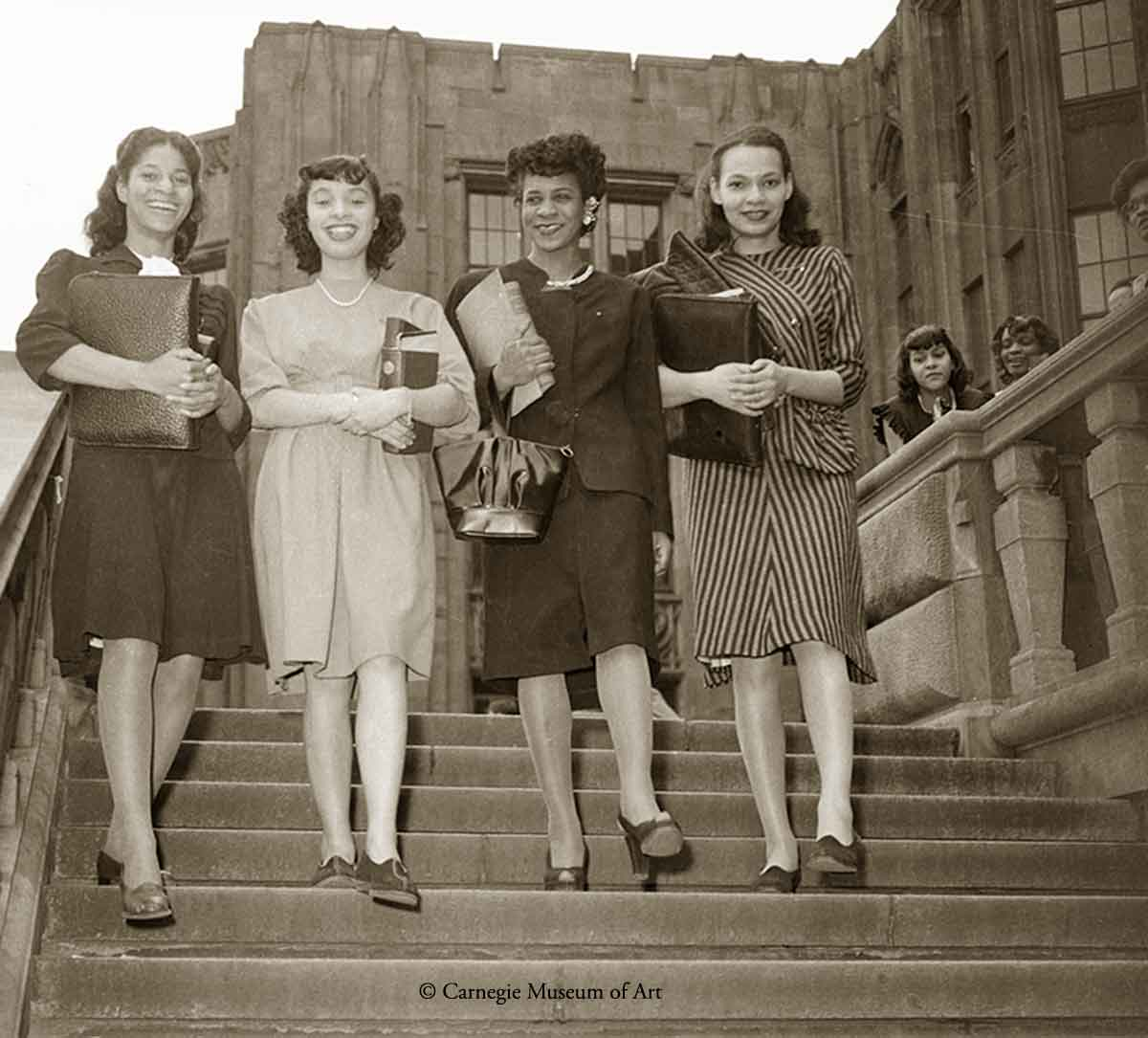 1940s Black Fashion University-of-Pittsburgh-students--1948
