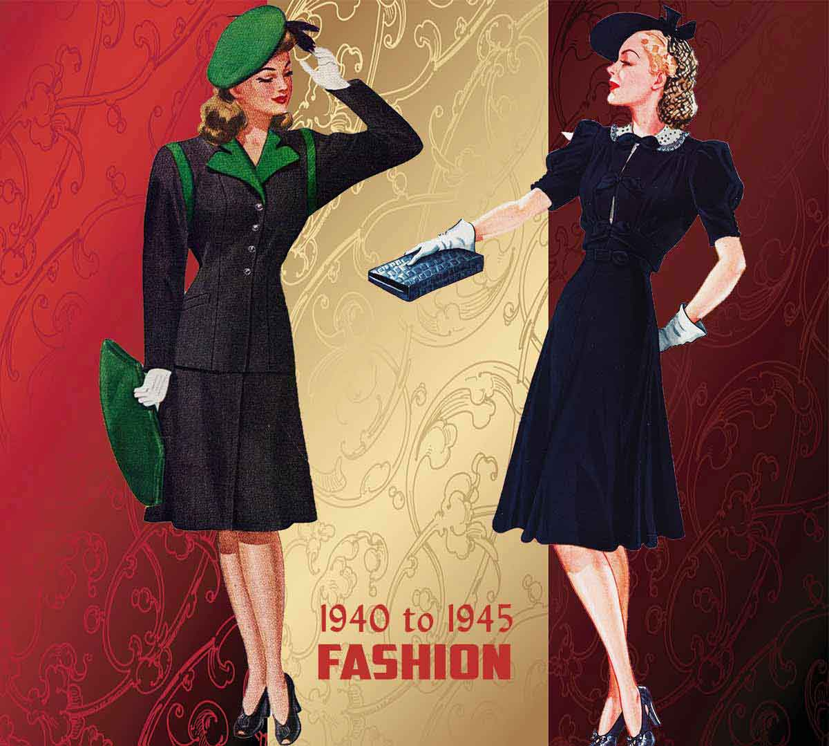History Of Womens Fashion 1940 To 1949 Glamour Daze