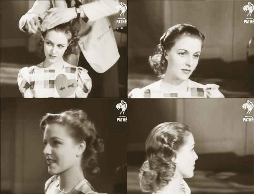 1940s Hairstyle – American Wartime Hairdos 1944
