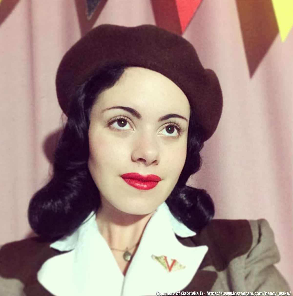 1940s-beret-fashions - Gabriella D @nancy_wake