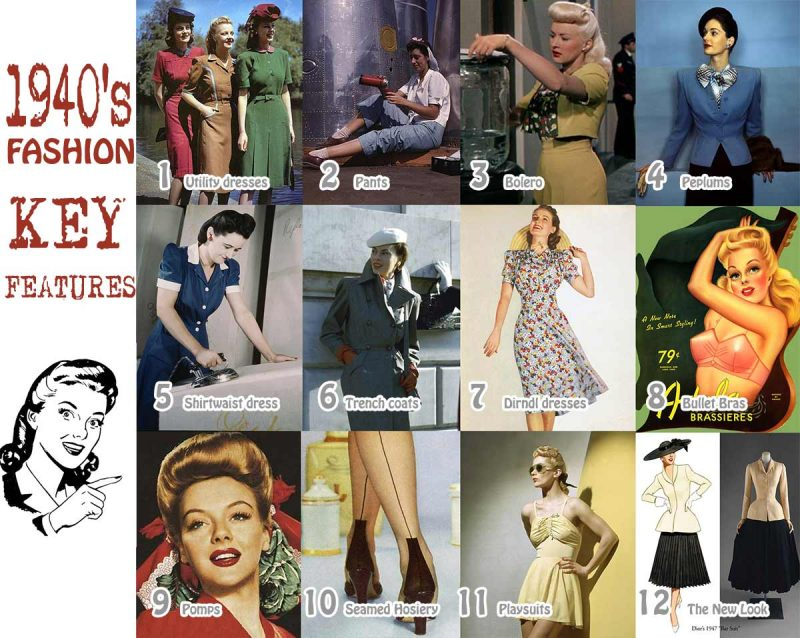 1940s fashion trends - Top 12
