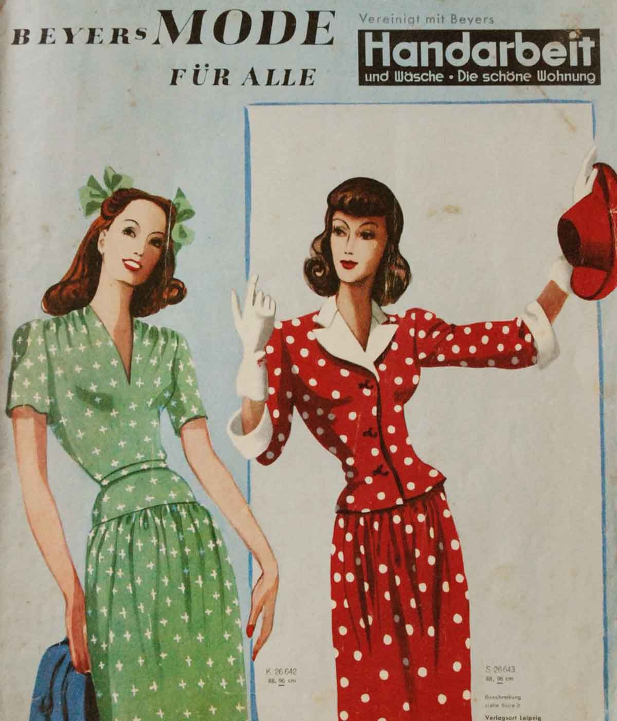 History of Womens Fashion - 1940 to 1949 | Glamour Daze