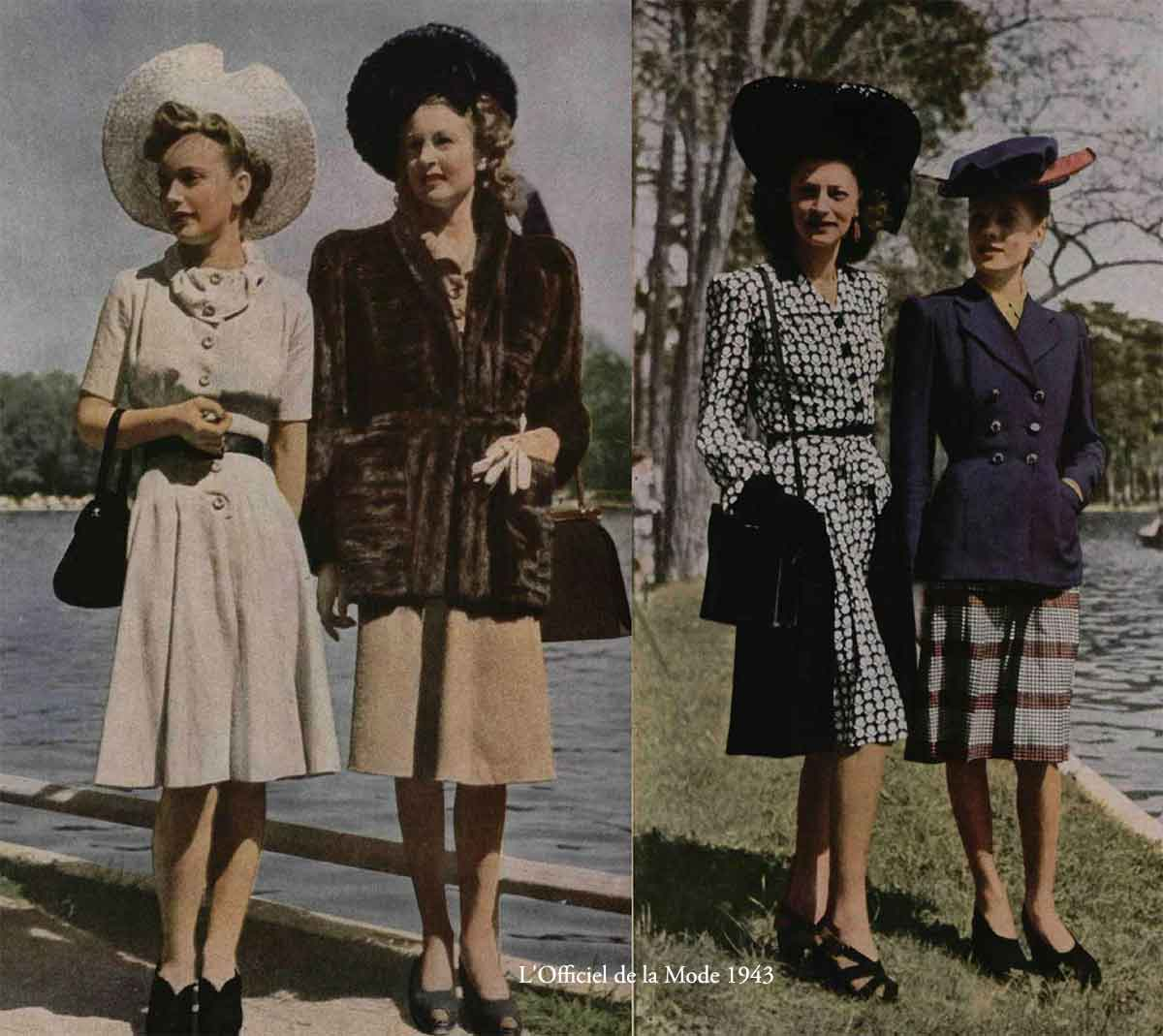 e4f4f656674 History of 1940s Fashion - 1940 to 1949
