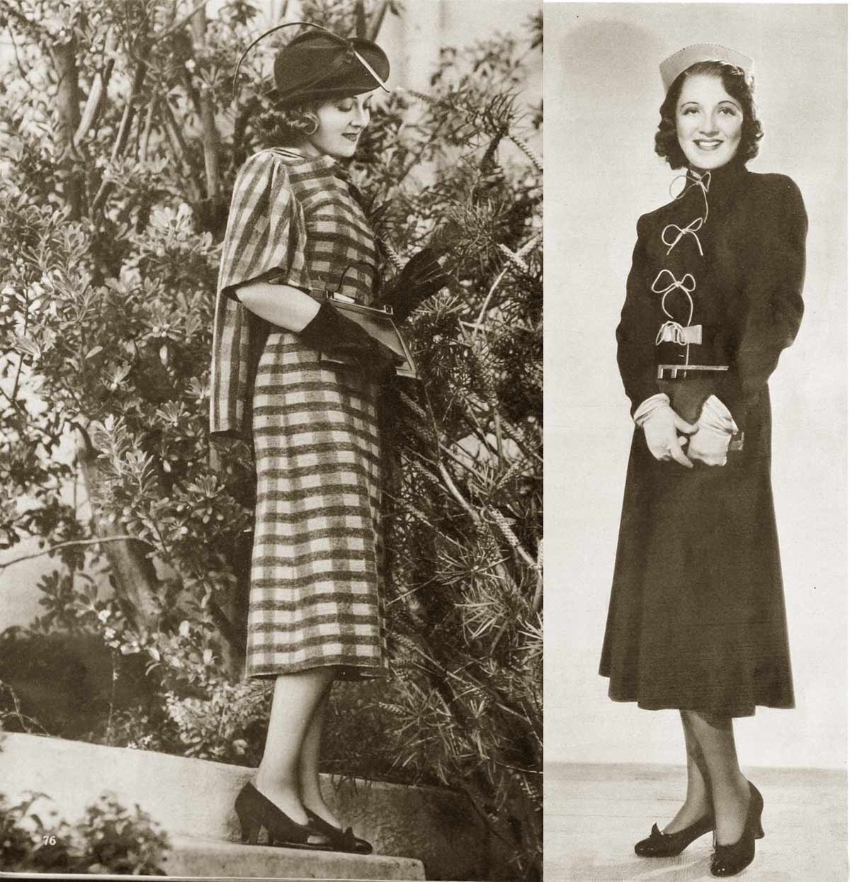 1930s Fashion Hollywood Fall Styles In 1937
