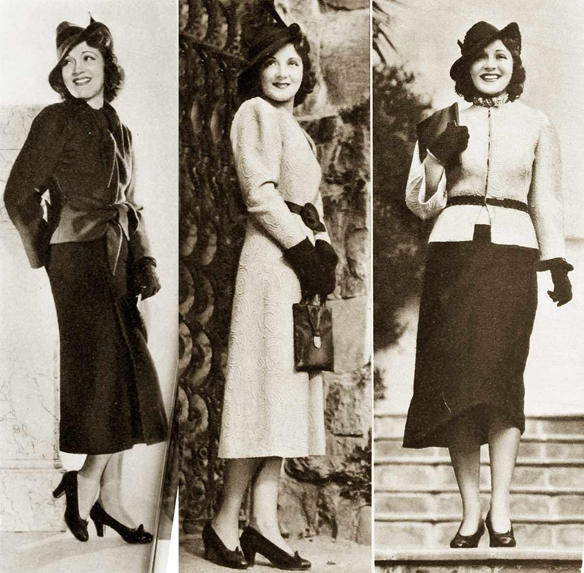 1930s fashion hollywood fall styles in 1937 glamour daze