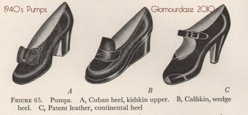 1940s shoes - pumps