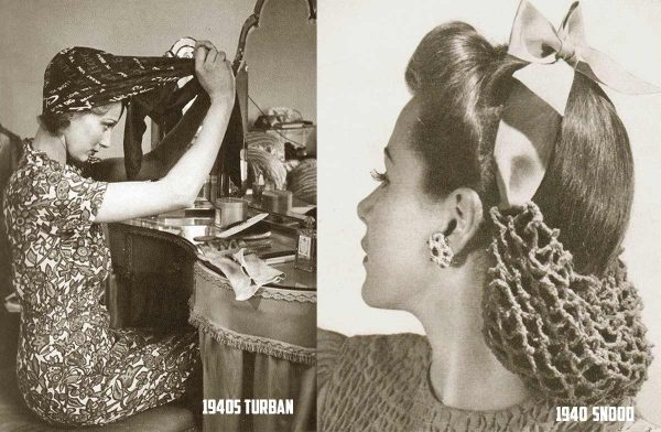 1940s Turban, Headscarf and Hair Snoods