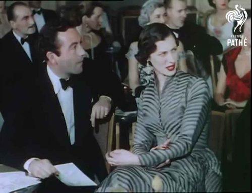 8-1950s-british-fashion-show-in-color-1951-actor-dennis-price