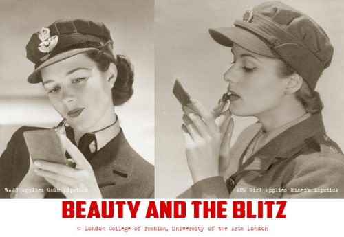 beauty-and-the-blitz-waaf-girl-and-ats-girl-apply-lipstick-1940