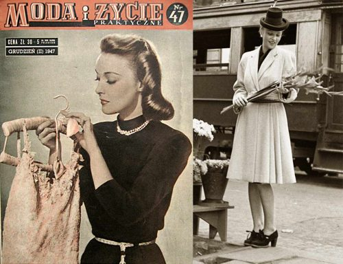 What was the style of clothing in 1947?