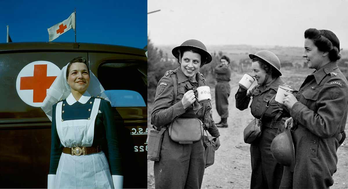 women in uniform in world war two