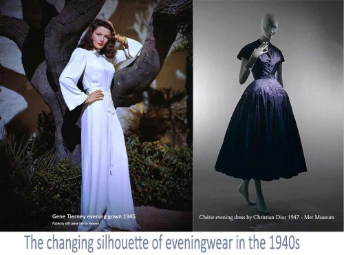 1940s Hollywood Evening Dresses