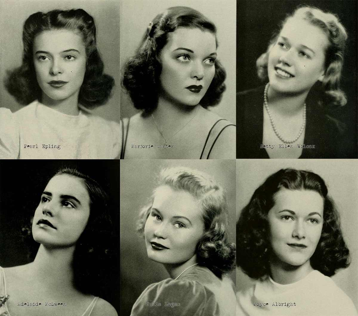 and medium hair styles 1940s college hairstyles daze 1941