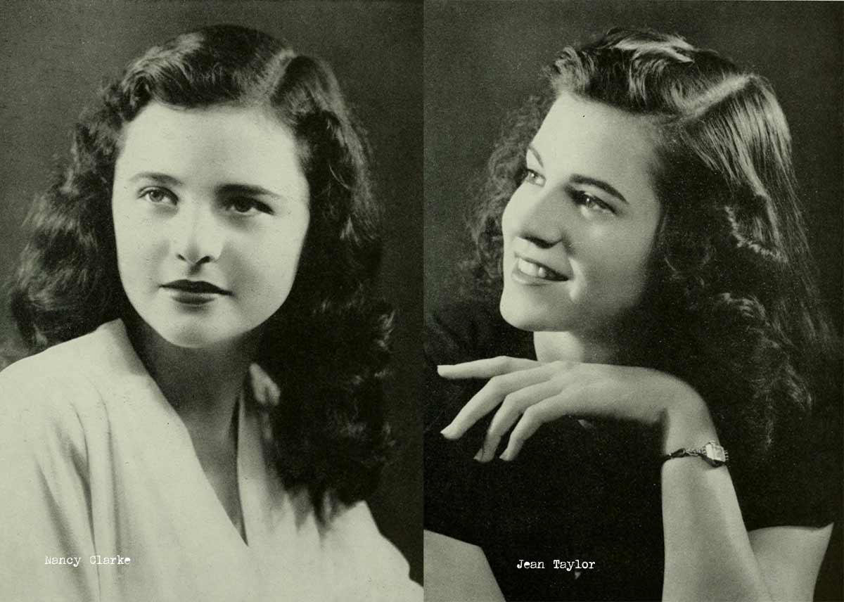 african black hair styles 1940s college hairstyles daze 1947 | 1940s College Girl Hairstyles 1946b