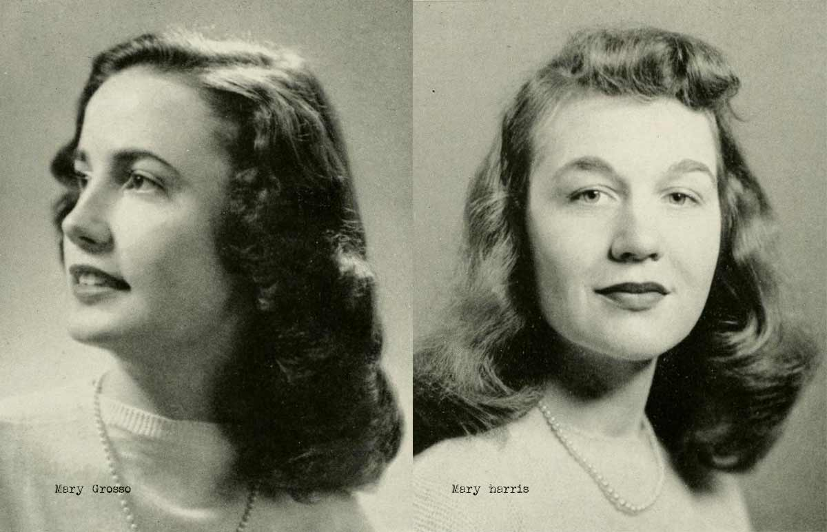 Hairstyles For Short Hair 1940s: 1940s College Girl Hairstyles