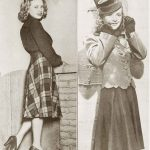 College Girl Winter Fashion for 1940