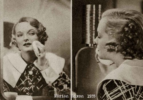 Max-Factor-School-of-Makeup-1935- Marian Nixon