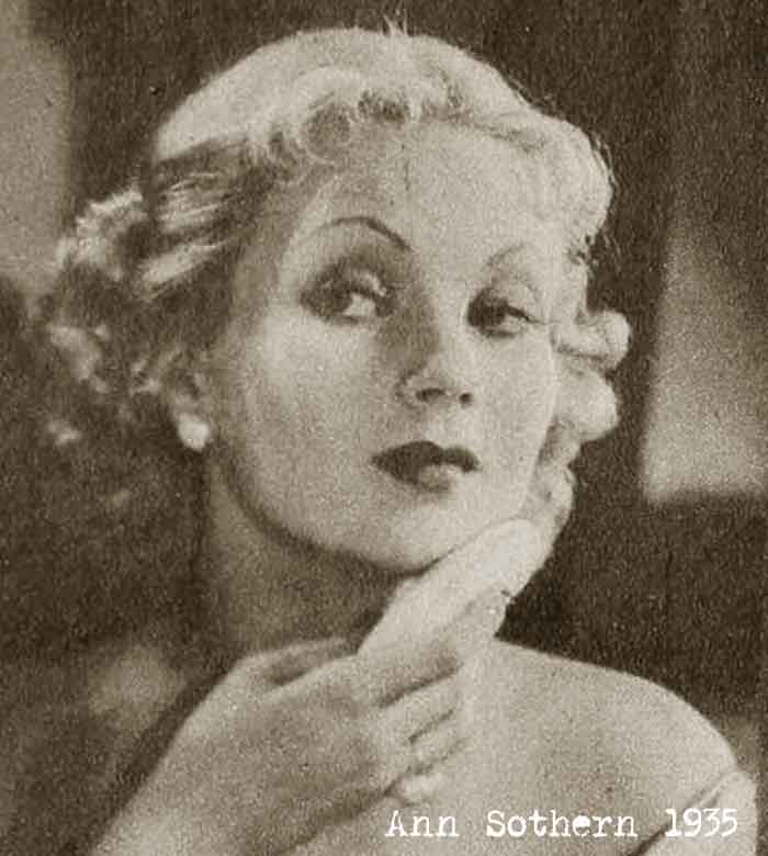ann sothern applying foundation and powder 1935