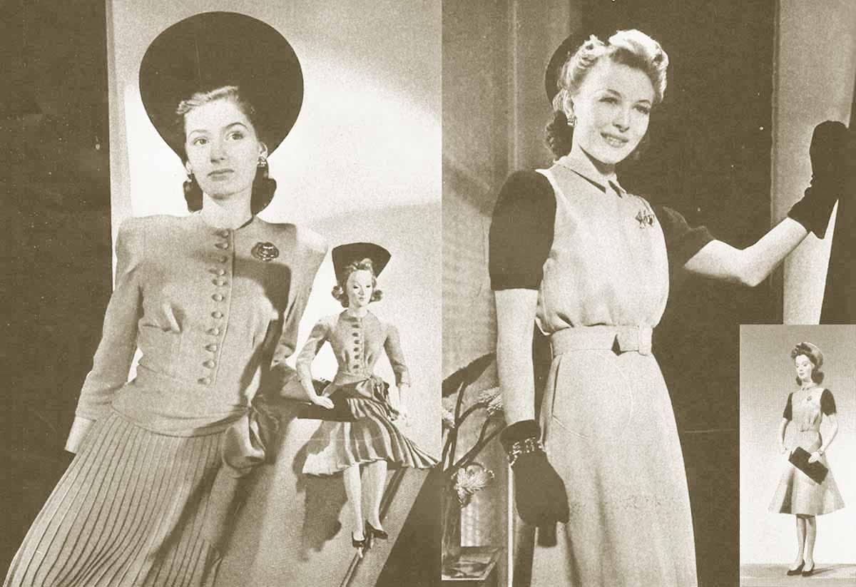 1940s fashion � vogue under twenty dresses glamourdaze