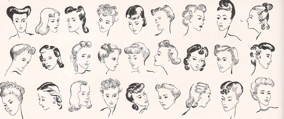 81 Hairstyles In Vogue For 1940 Glamour Daze
