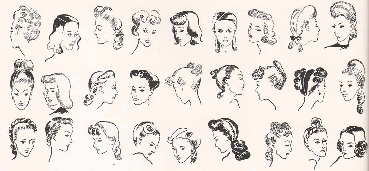 81 Hairstyles in vogue for 1940 | Glamourdaze
