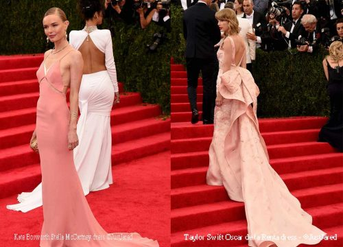 Kate-Bosworth-and-Taylor-Swift-model-pink--Stella-McCartney-dress,
