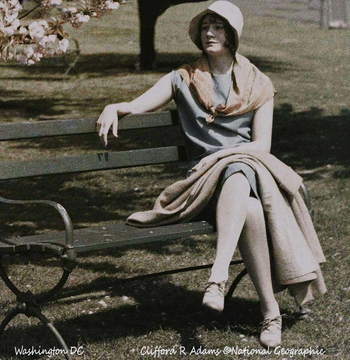 1920s Women in Autochrome Lumiere Color