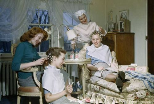 Permanent-wave-home-styling-at-home---circa-1940s---Saint-Paul,-Minnesota---B-Anthony-Stewart