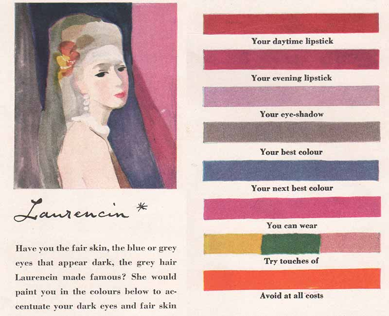 1940s Makeup-to-match-the-Artists-Palette - Laurencin